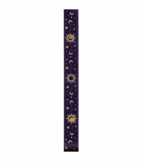 Offray Satin Ribbon-Navy & Gold Celestial