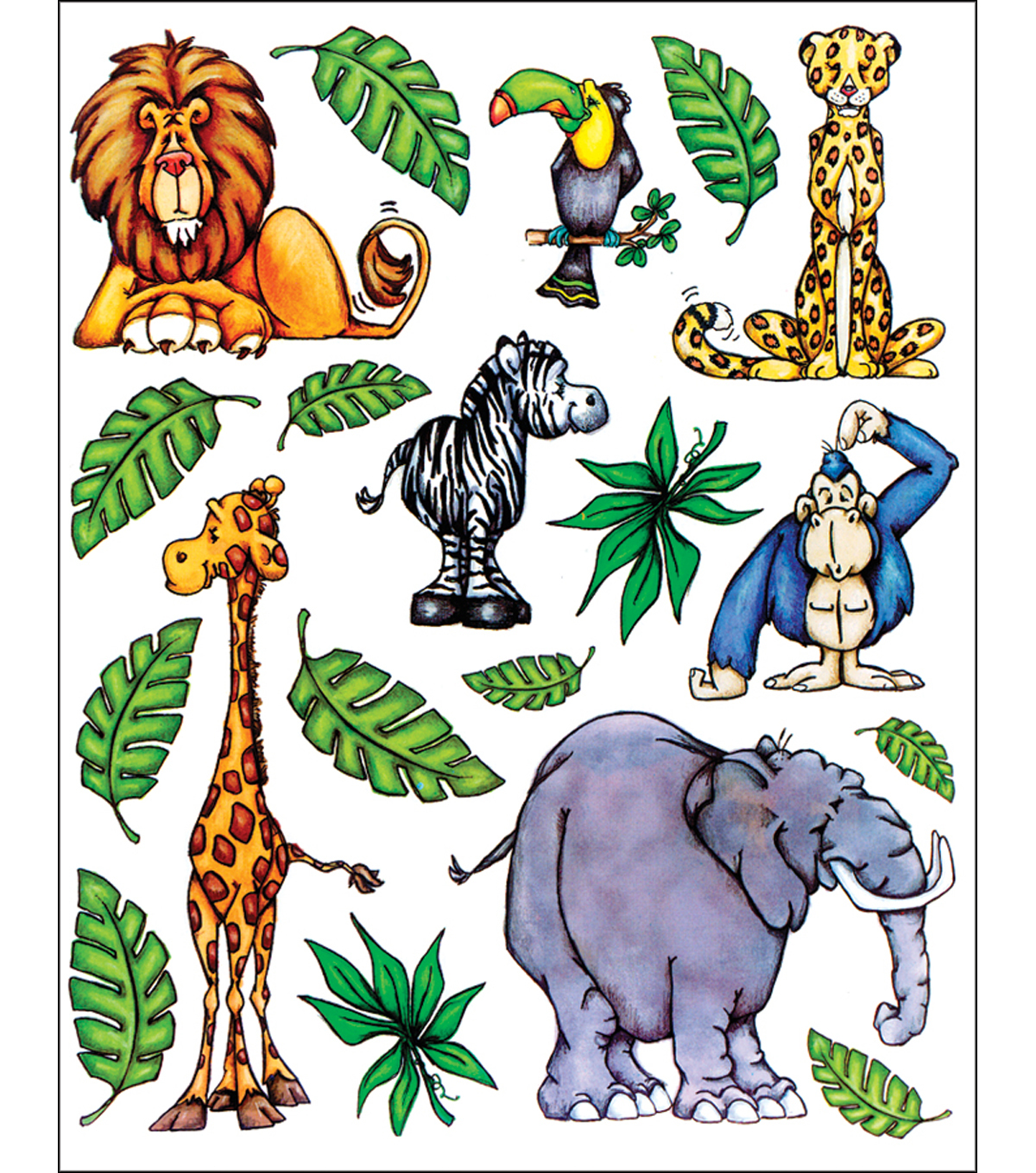 Penny Black Sticker Sheet 7\u0022X9\u0022-Jungle Fever