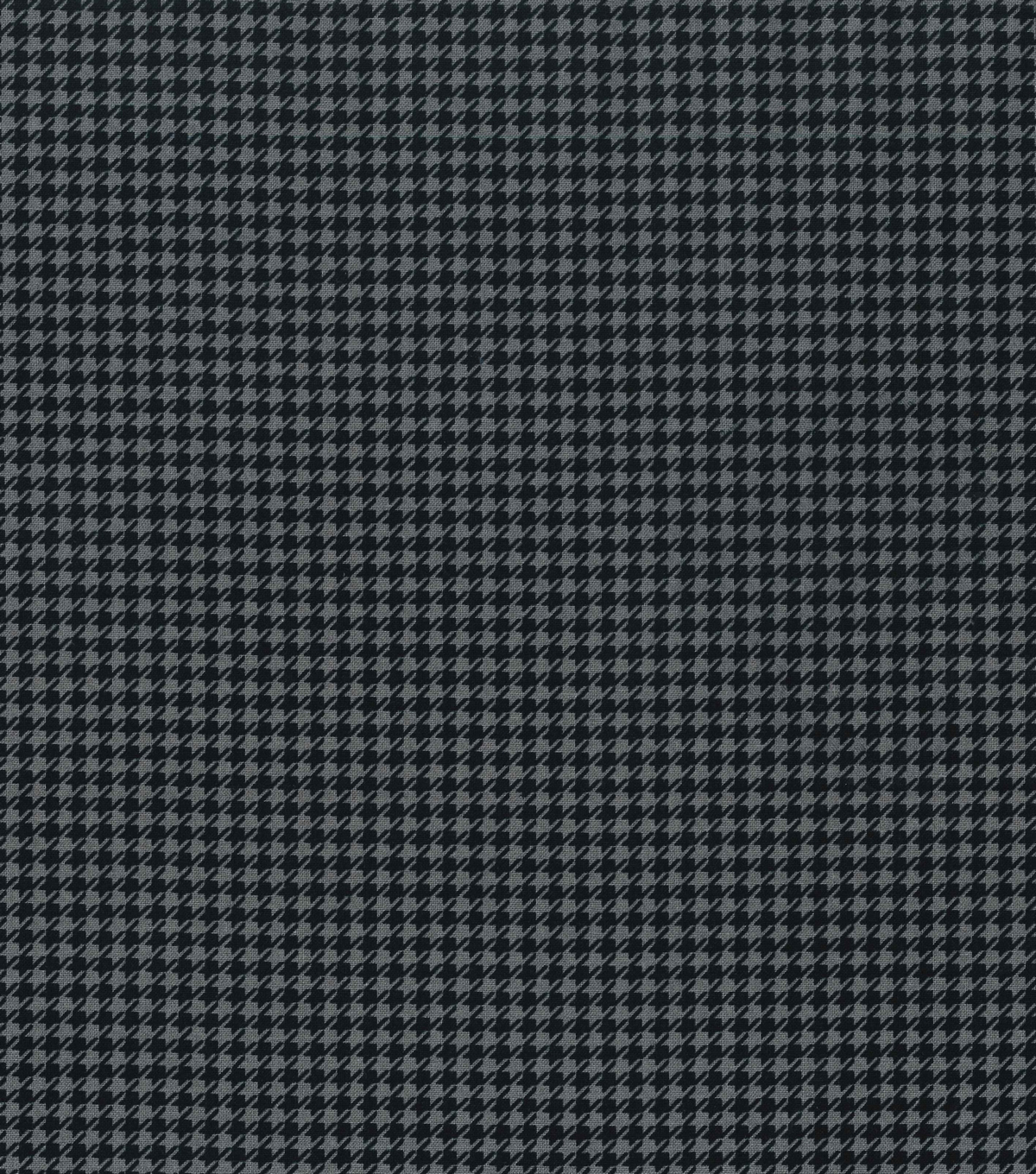 Keepsake Calico™ Cotton Fabric 43\u0022-Black Gray Houndstooth