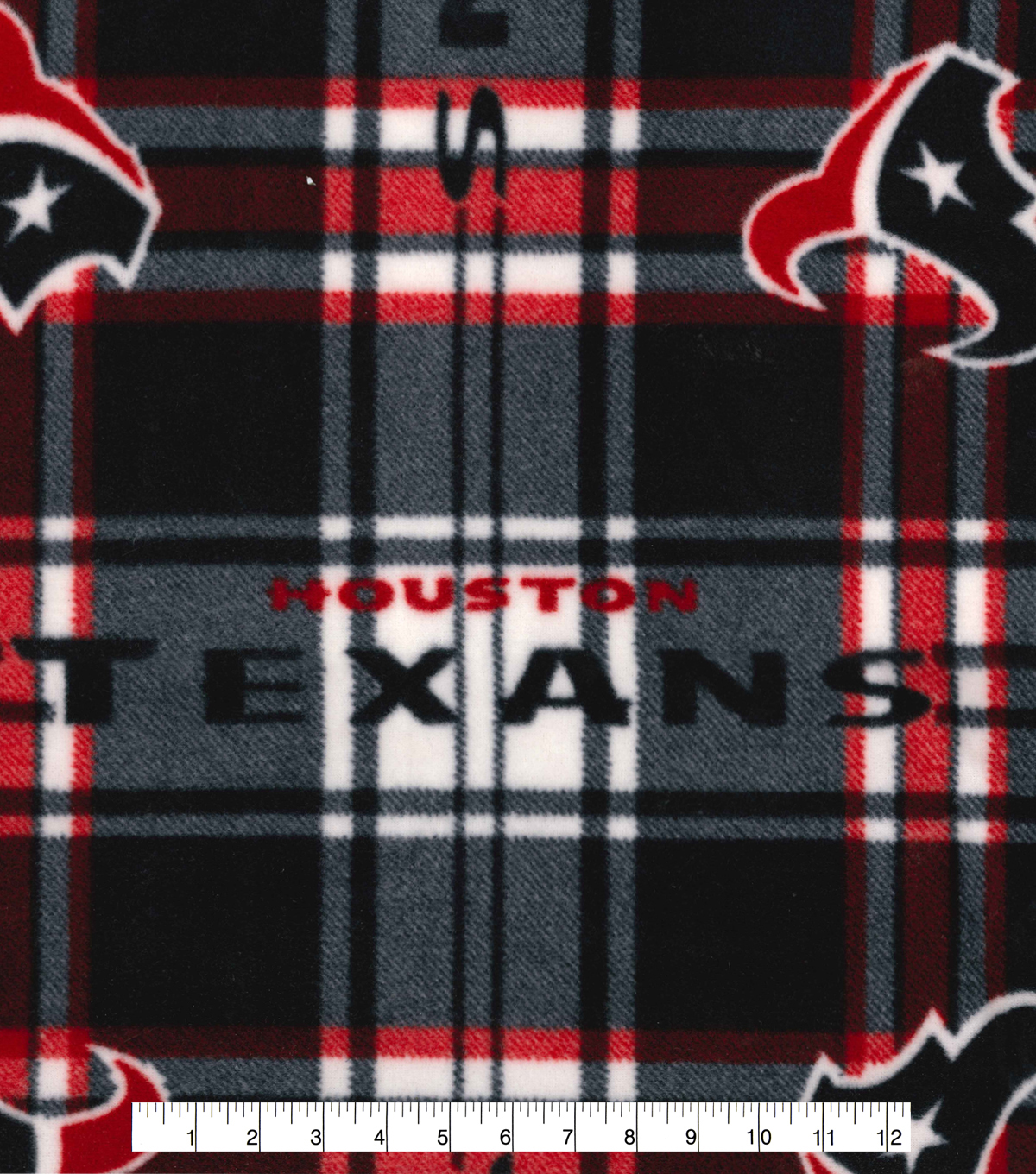 Houston Texans Fleece Fabric 58\u0022-Plaid