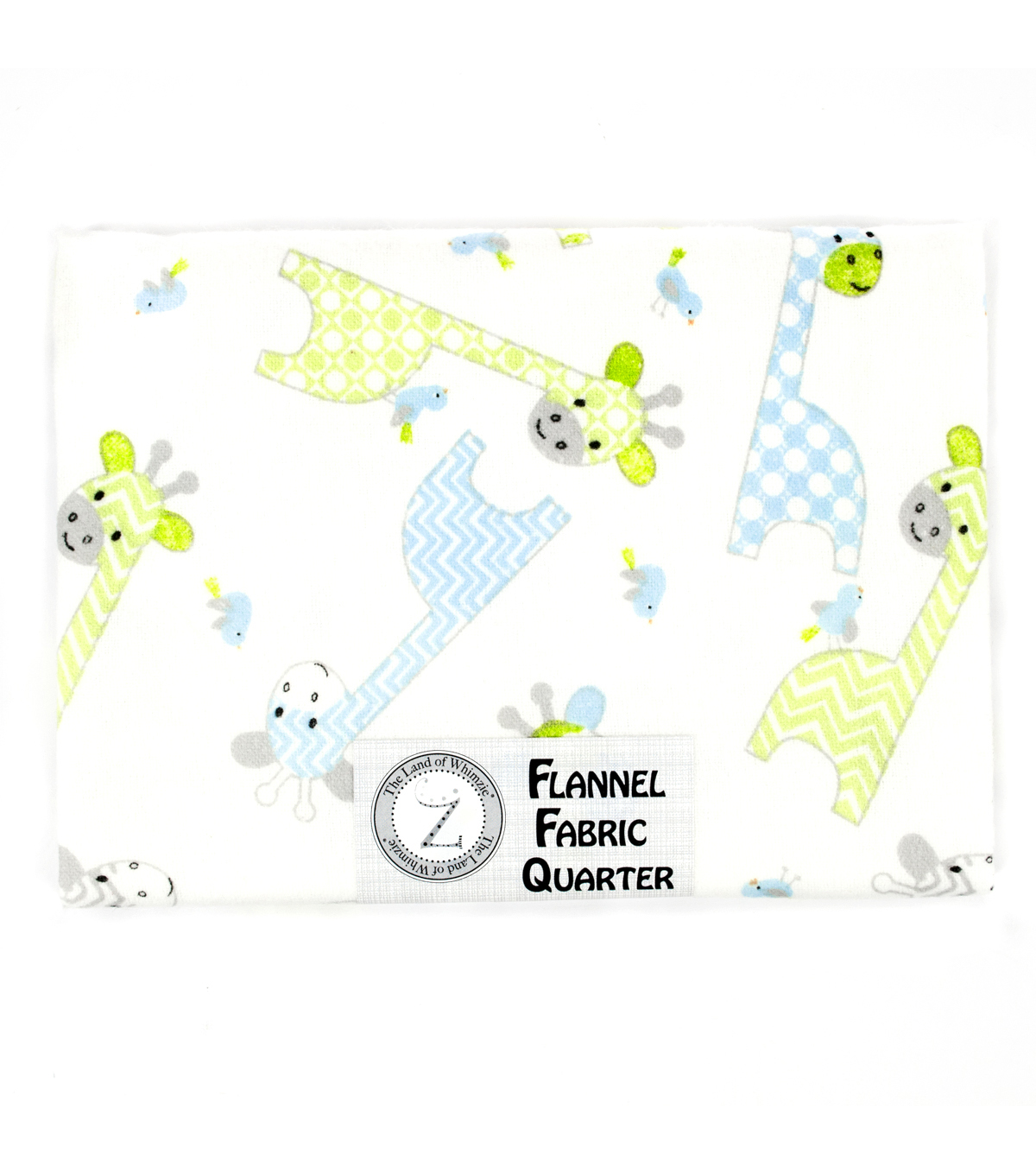 Land of Whimzie Giraffi Flannel Fabric Quarter 1 - 1 piece 18\u0022 x 21\u0022