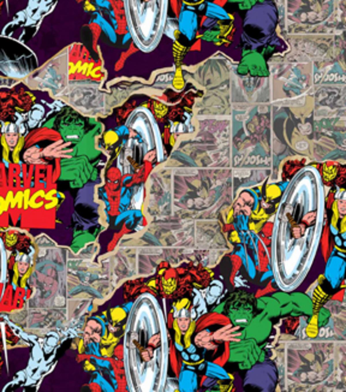Marvel comics retro breakthrough cotton fabric 44 joann - Marvel retro wallpaper ...