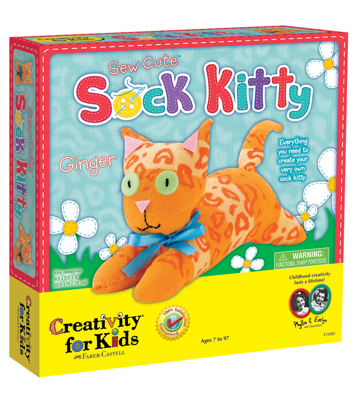 Creativity For KidsSew Cute Sock Kit-Kitty
