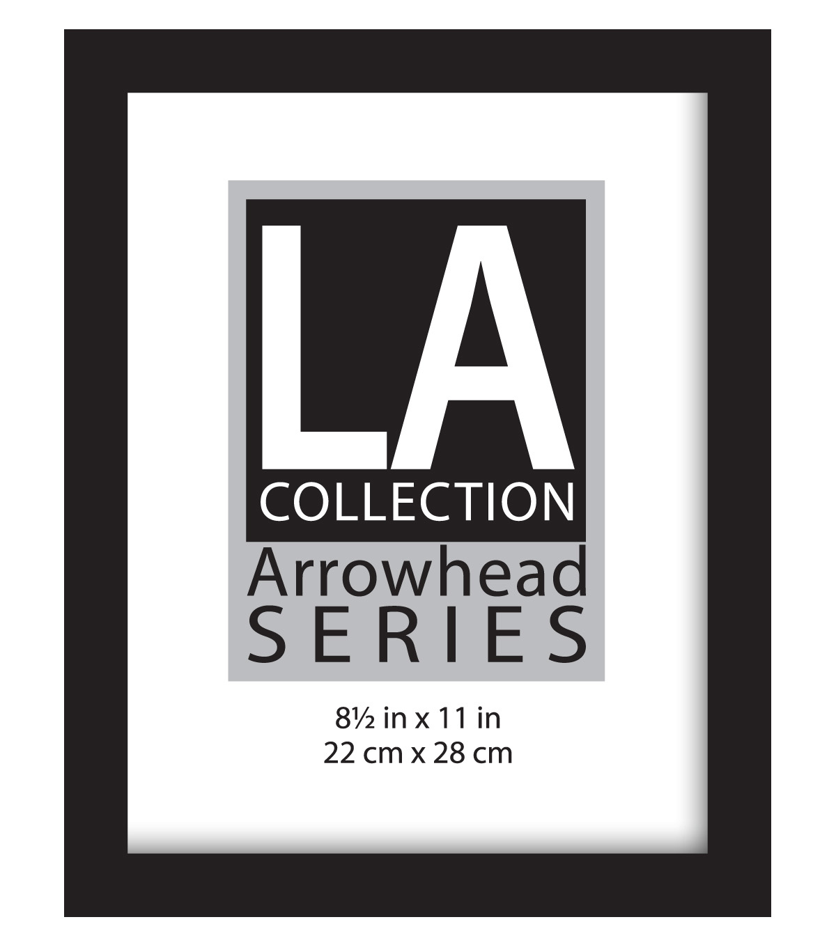 LA Collection Flat Top Wall Frame 8.5X11-Black