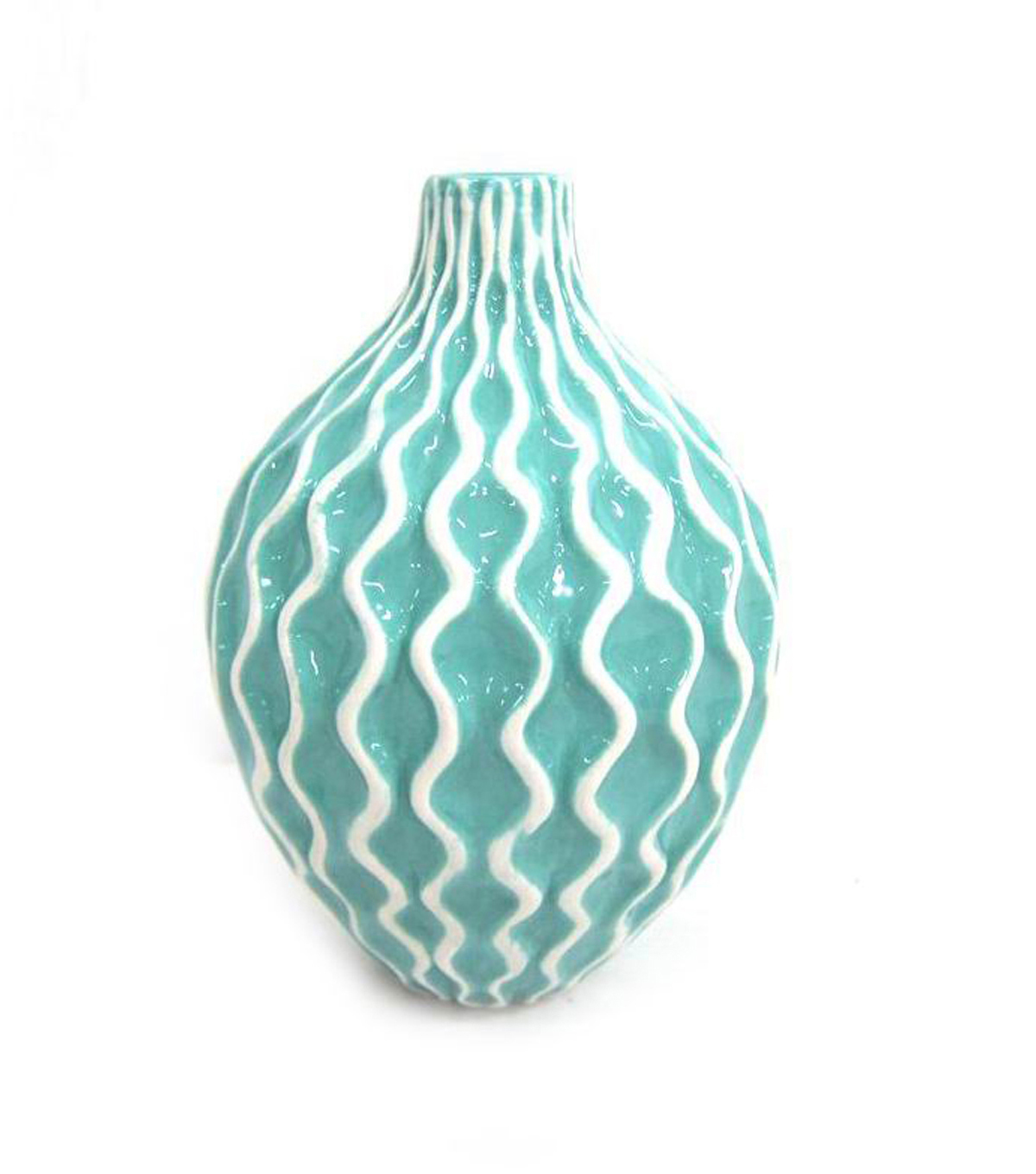 Bloom Room Honeycomb Vase-Blue