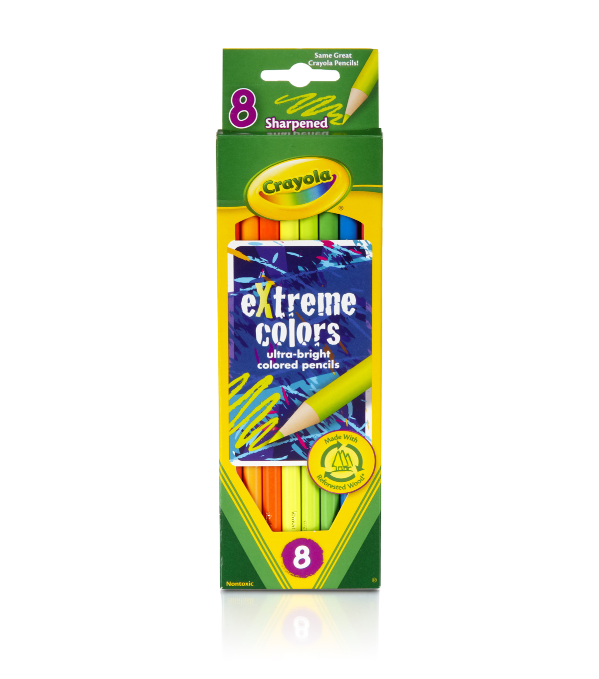 Crayola Extreme Colored Pencils-8/Pkg Long