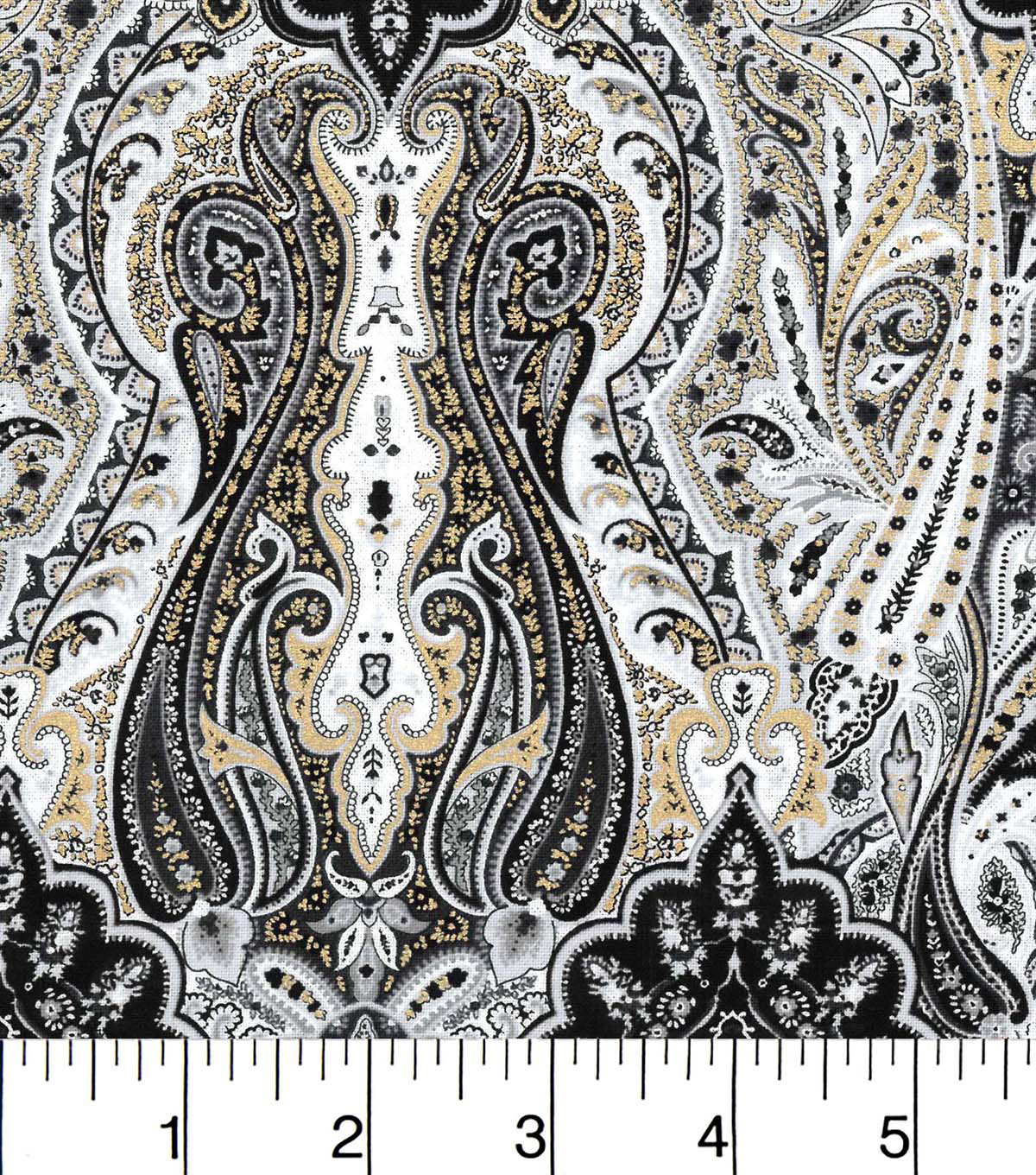 Buttercream™ Audrey Cotton Fabric 43\u0022-Damask Metallic