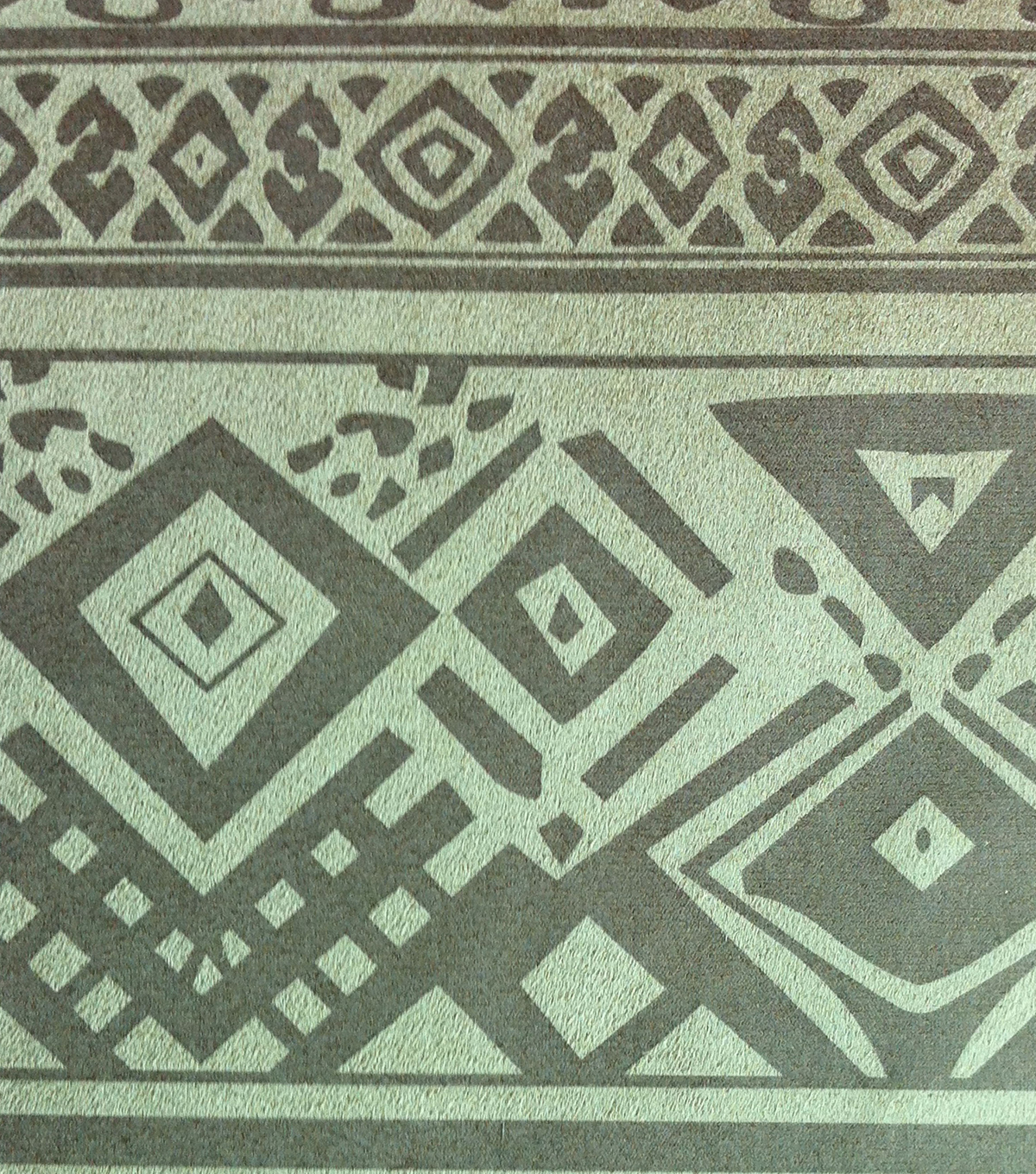 Southwest Apparel Fabric-Aztec Embossed Suede Gold