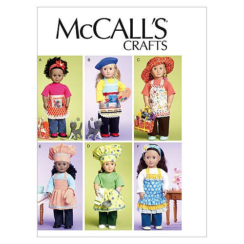 McCall's Crafts Doll Clothes-M6451