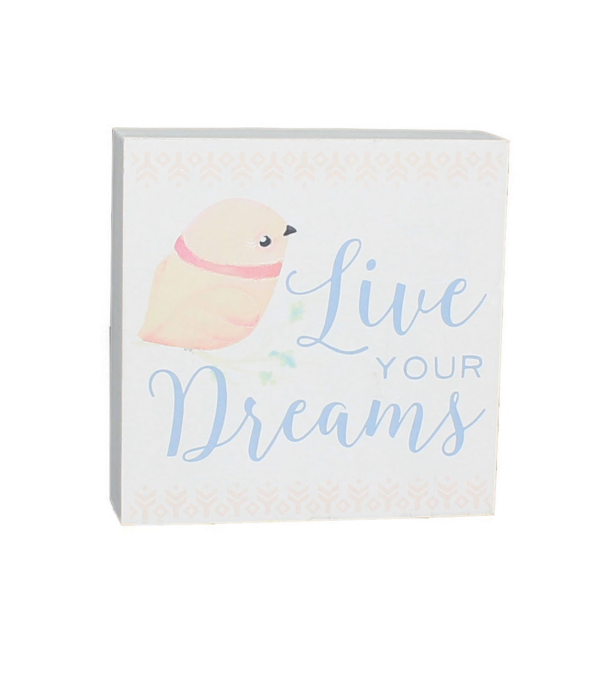 Wild Blooms Word Block-Live Your Dreams