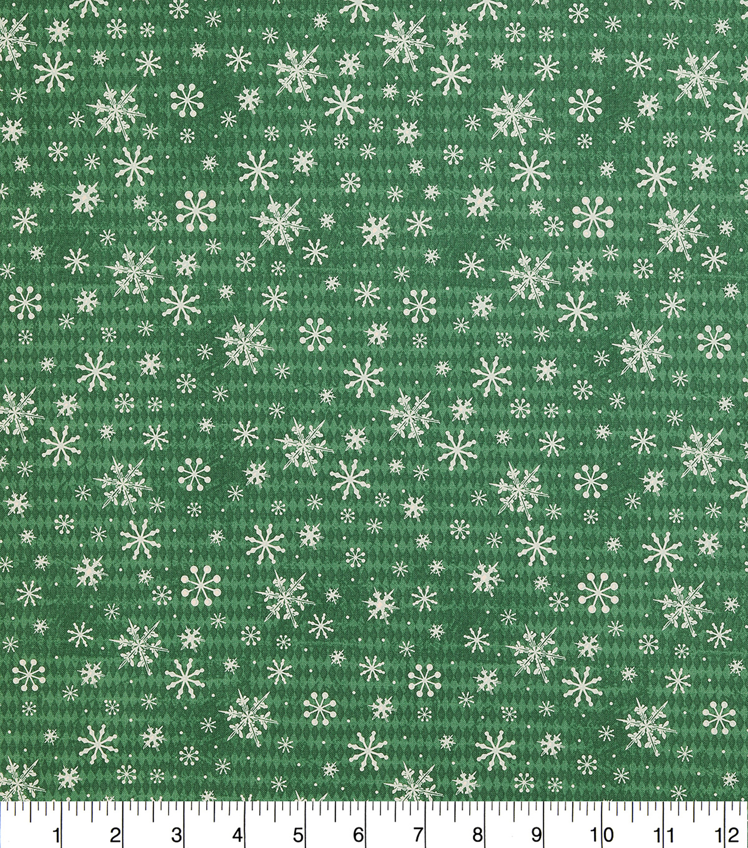 Christmas Cotton Fabric 43\u0022-Tossed Snowflakes