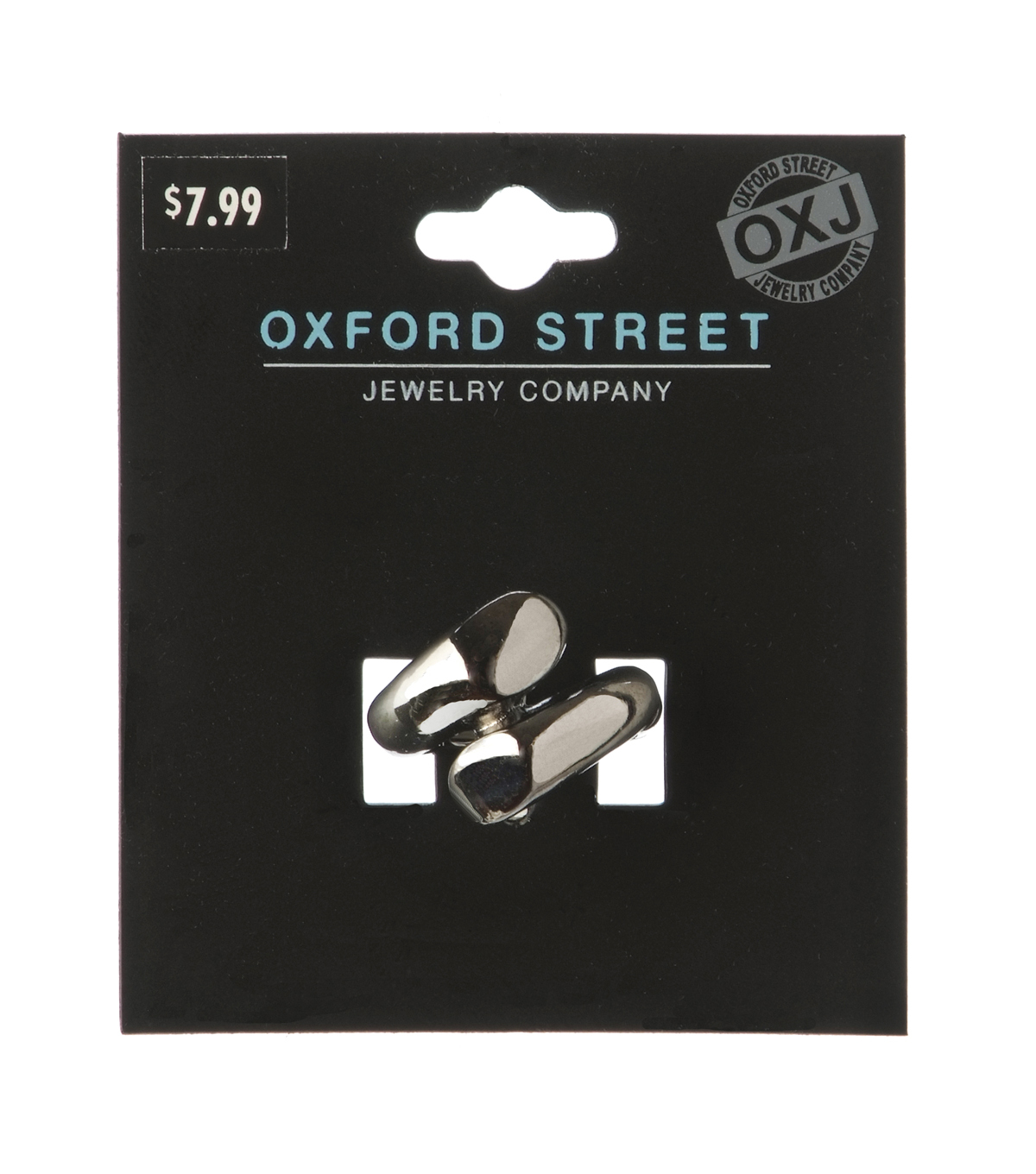 Oxford Street Jewelry Co. Gunmetal Bypass Ring