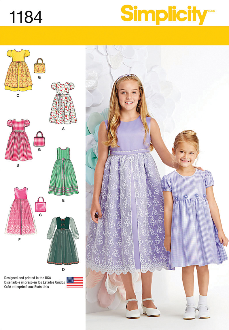 Simplicity Pattern 1184HH 3-4-5-6 -Children