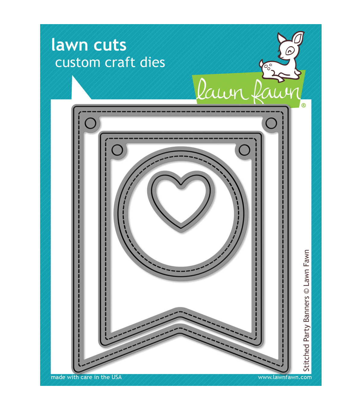 Lawn Fawn Lawn Cuts Custom Craft Die -Stitched Party Banners