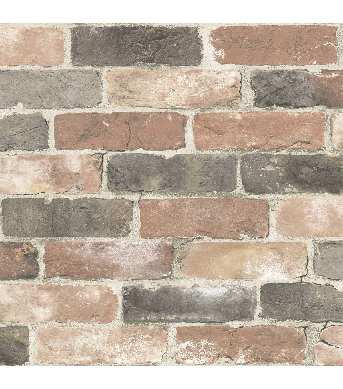 WallPops® NuWallpaper™ Peel and Stick Wallpaper-Newport Reclaimed Brick