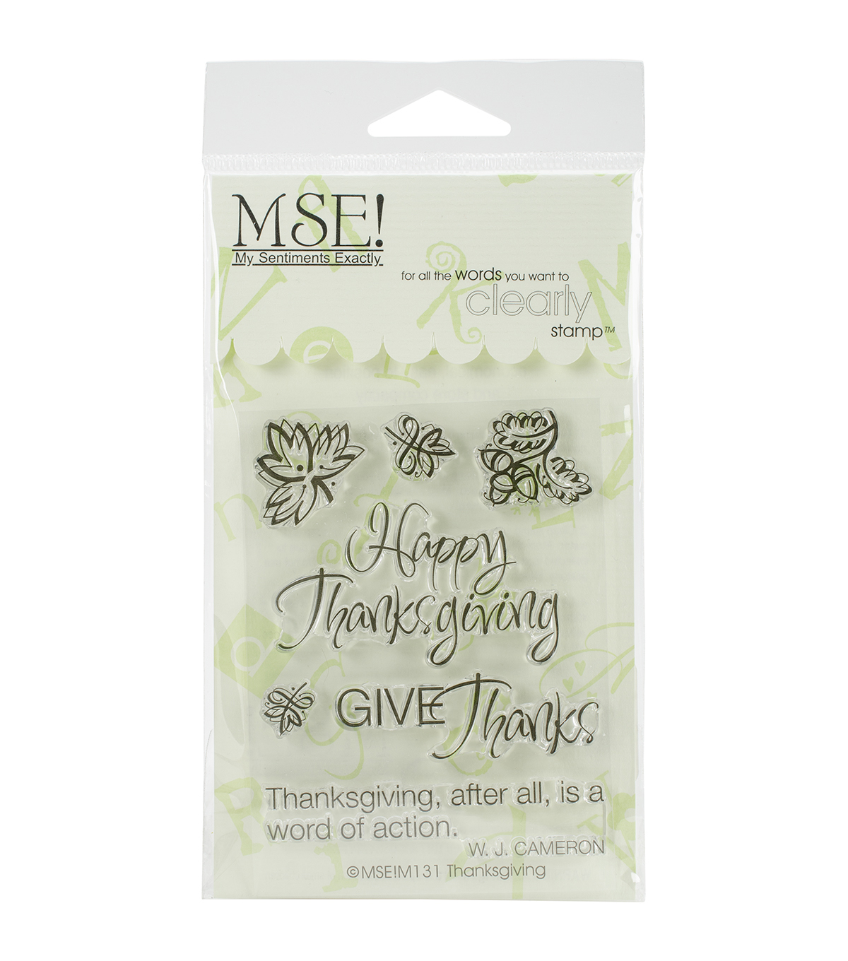 My Sentiments Exactly Clear Stamps-Thanksgiving Quote