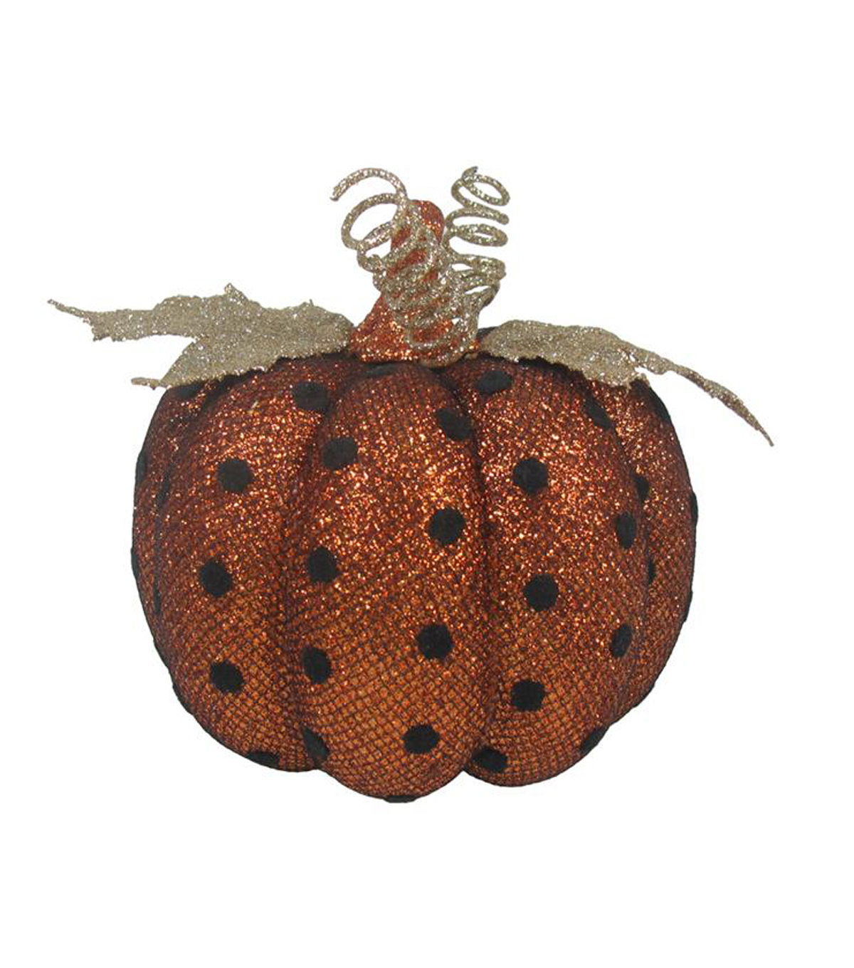Pumpkin Boutique Extra Small Mesh Pumpkin-Black Polka Dots on Orange