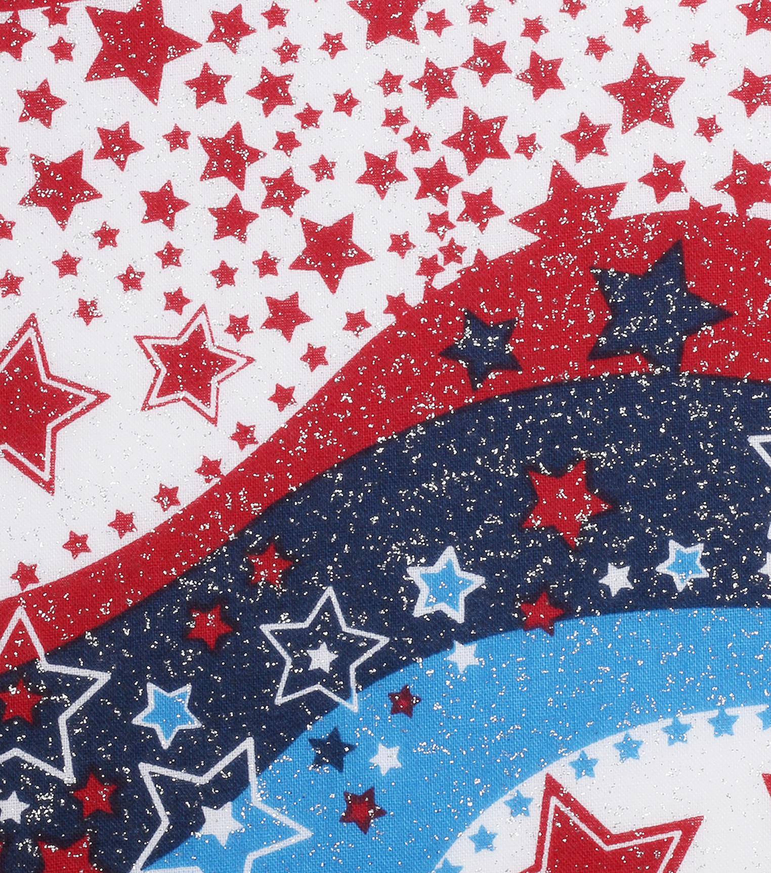 Patriotic Cotton Fabric 60\u0022-Glitter Stars