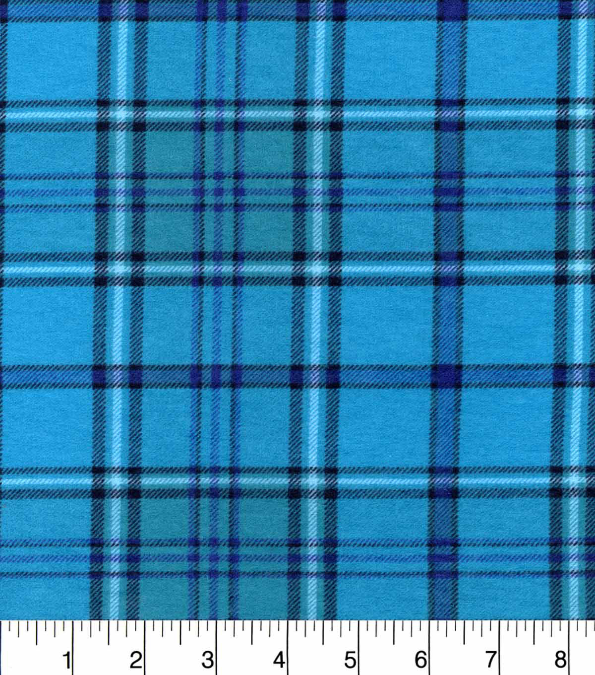 Snuggle Flannel Fabric 42\u0022-Aqua Purple Plaid