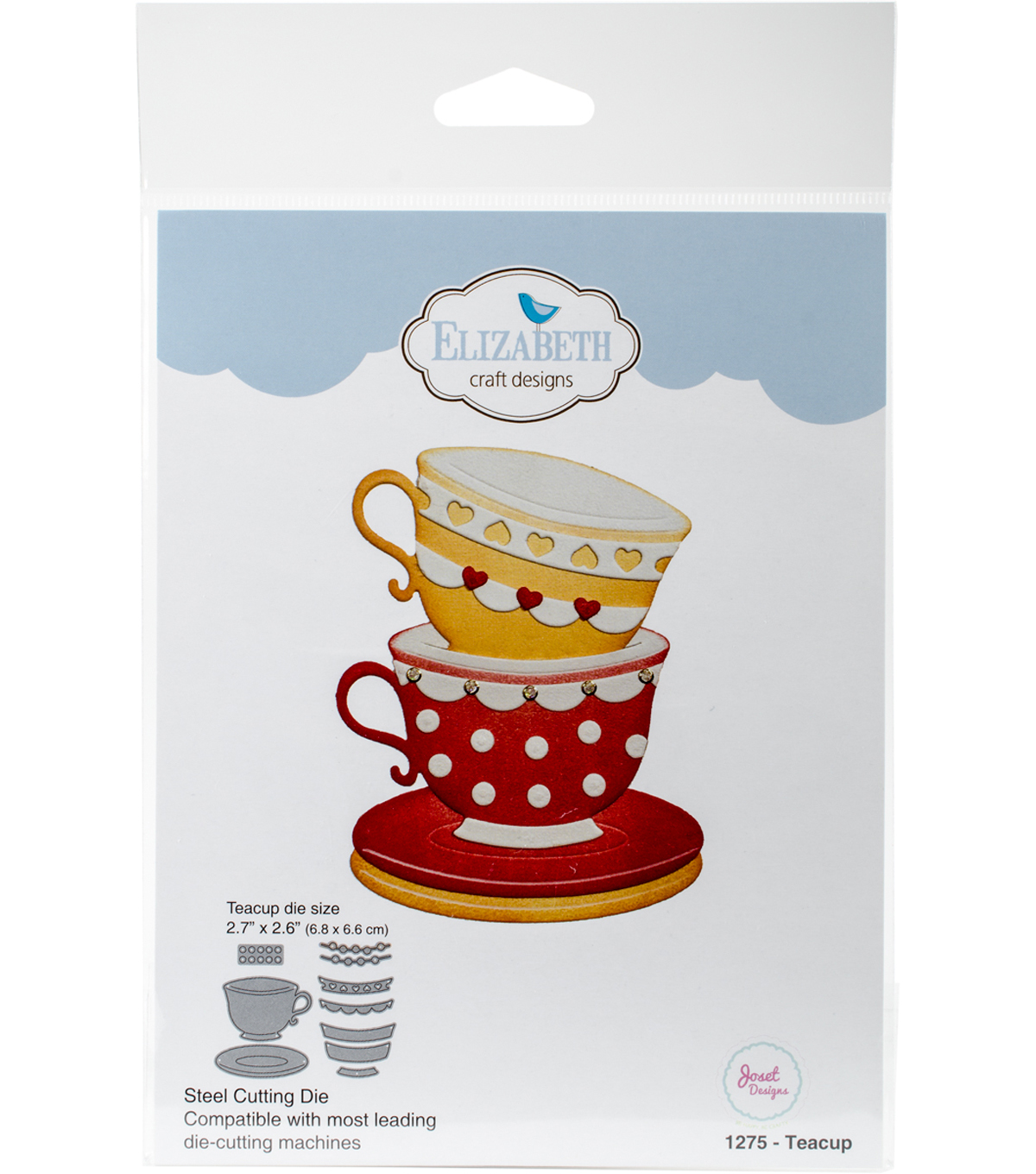 "Elizabeth Craft Metal Die By Joset Designs-Teacup, 2.7""X2.6"""