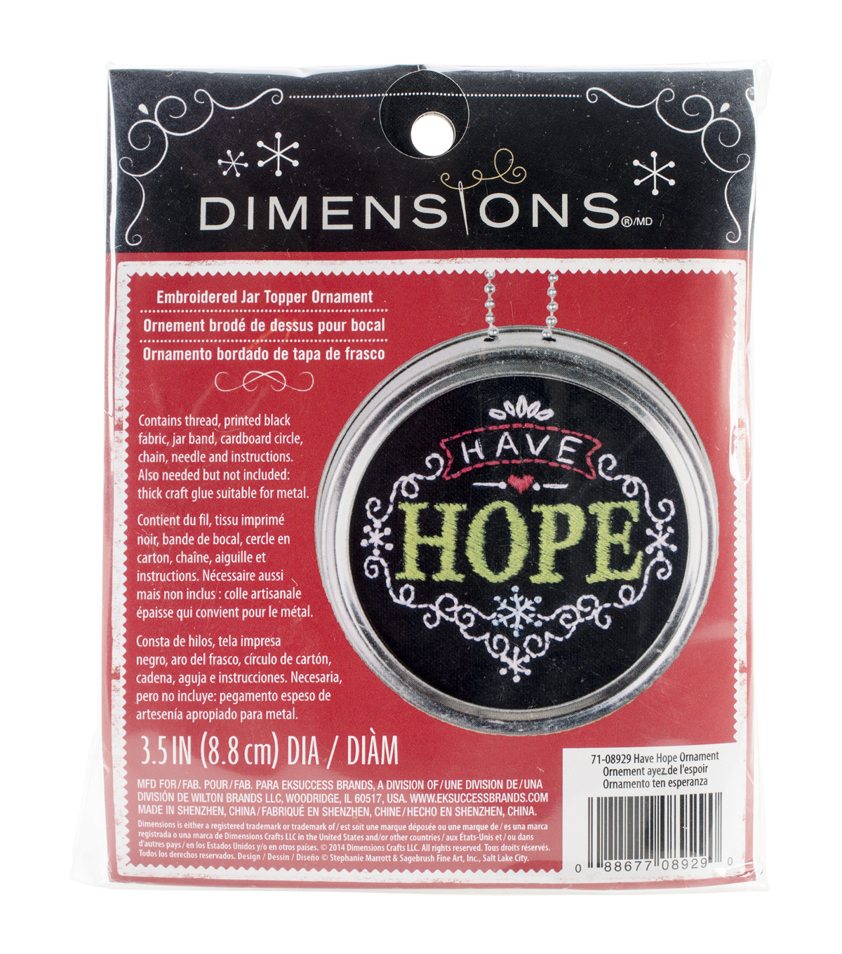 Dimensions Have Hope Ornament Stamped Embroidery Kit