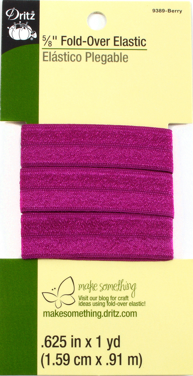 "Dritz 5/8"" Fold Over Elastic Berry 1Yd"