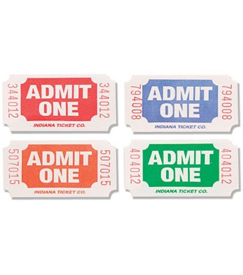 Admit One Tickets-2000 Tickets