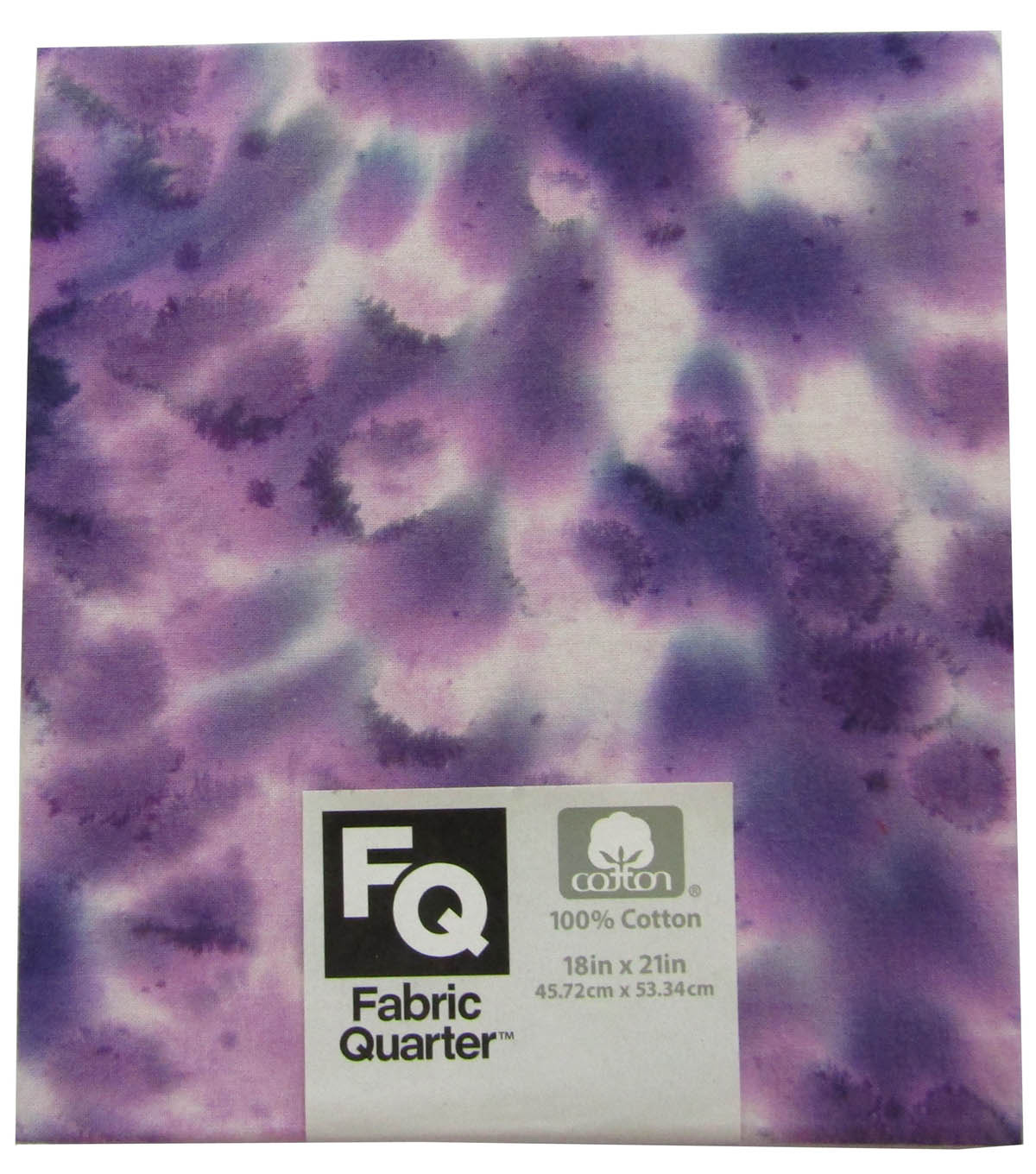 Fabric-Quarters Assorted Batik Fabric-Purple