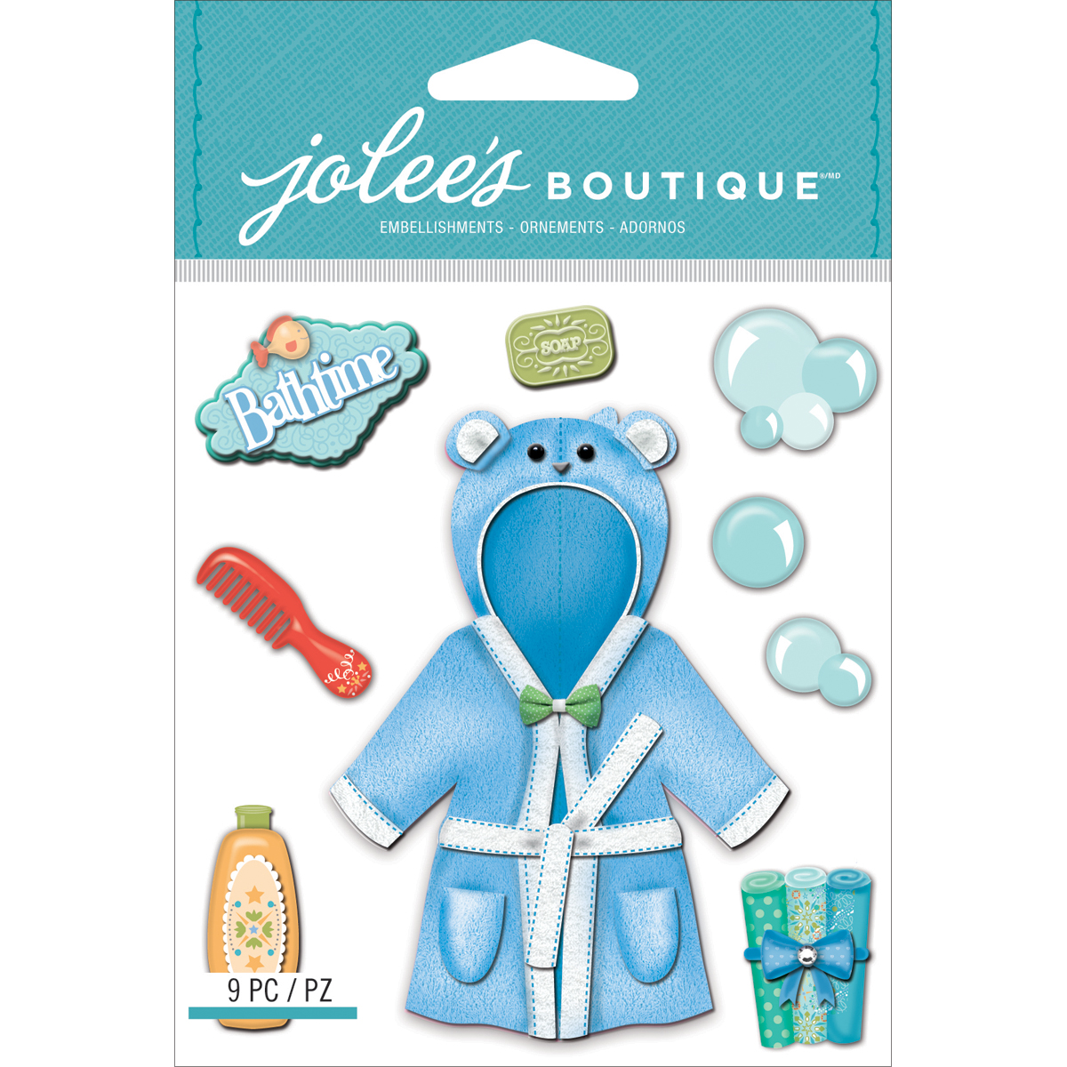 Jolee\u0027s Boutique Dimensional Stickers Baby Boy Bath Time