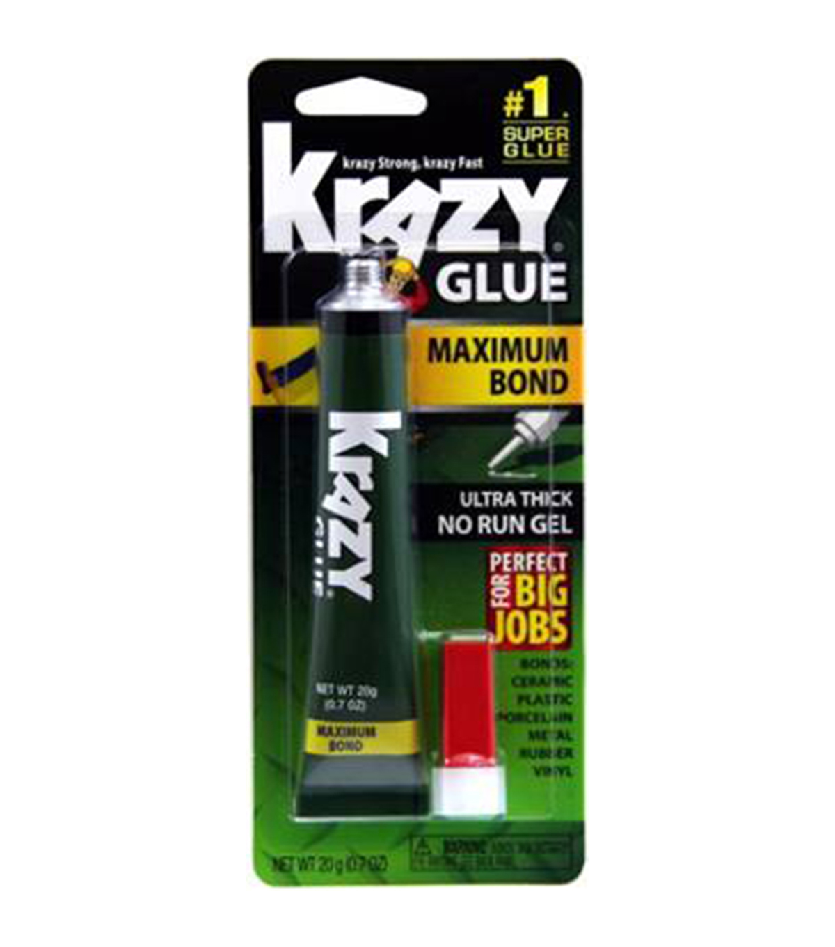 Krazy® Glue Maximum Bond No Run Gel