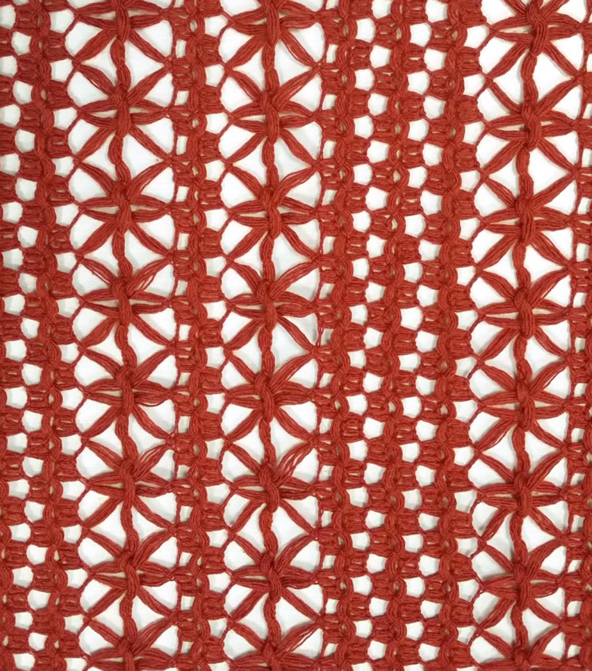 "Southwest Cotton Fabric 55""-Openweave Red"