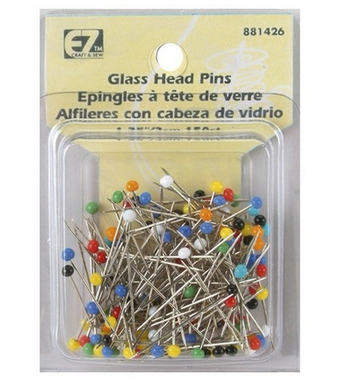 Glass Head Pins-150/Pkg