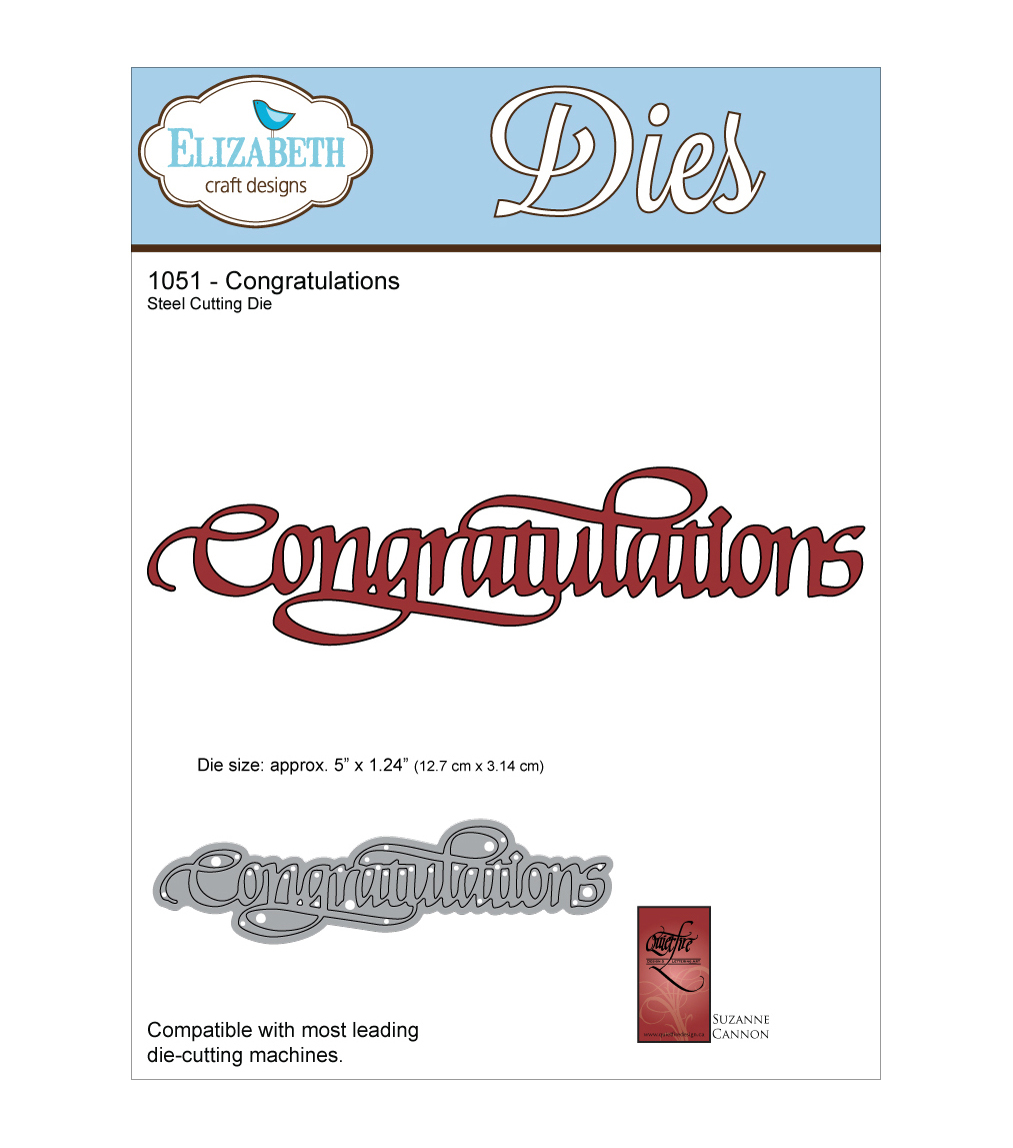 Elizabeth Craft Designs Quietfire Wafer Thin Metal Die-Congratulations