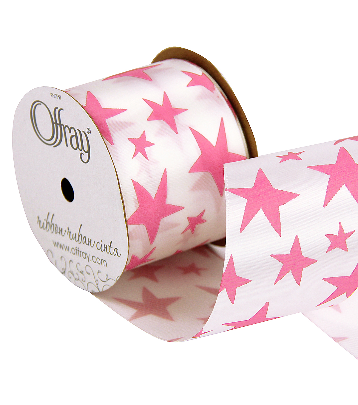 2 And One Qtr Geo Pinks Stars Ribbon