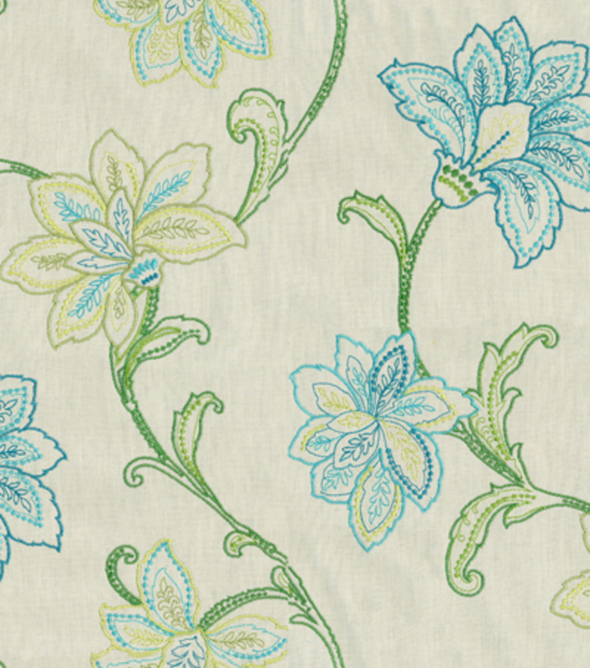 Waverly Upholstery Fabric 57\u0022-Mystical Embroidery/Jade