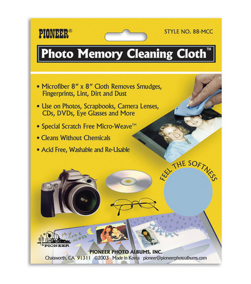 "Pioneer 8""x8"" Photo Memory Cleaning Cloth"