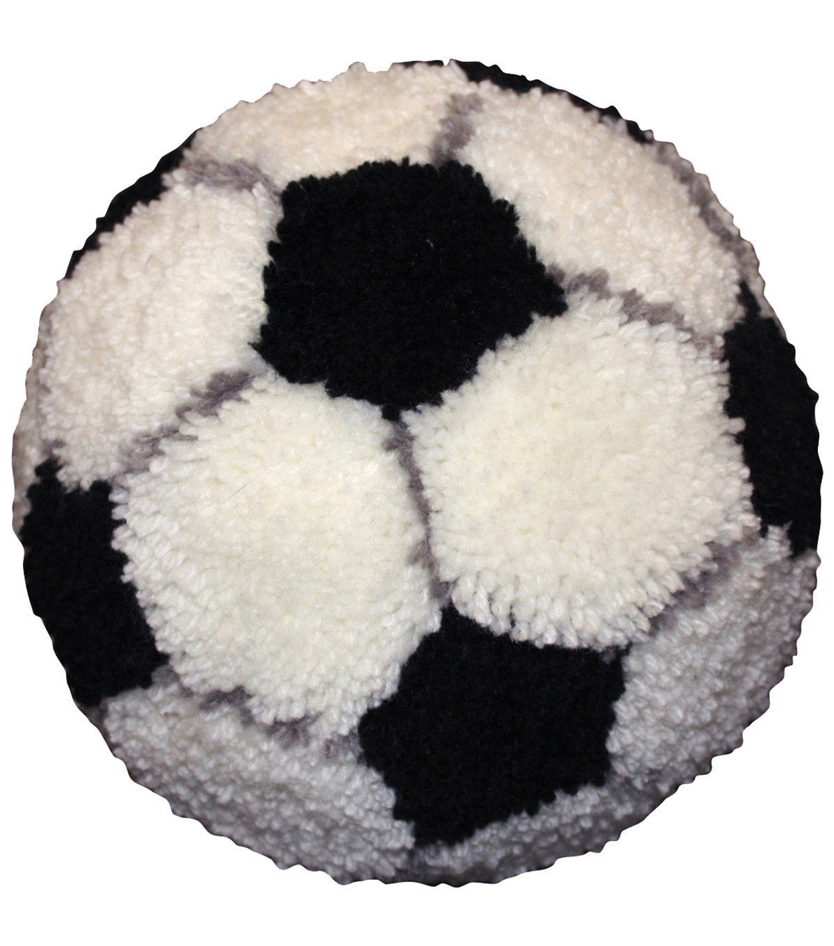 M C G Textiles Pillow Latch Hook Kit Huggables Soccer Ball
