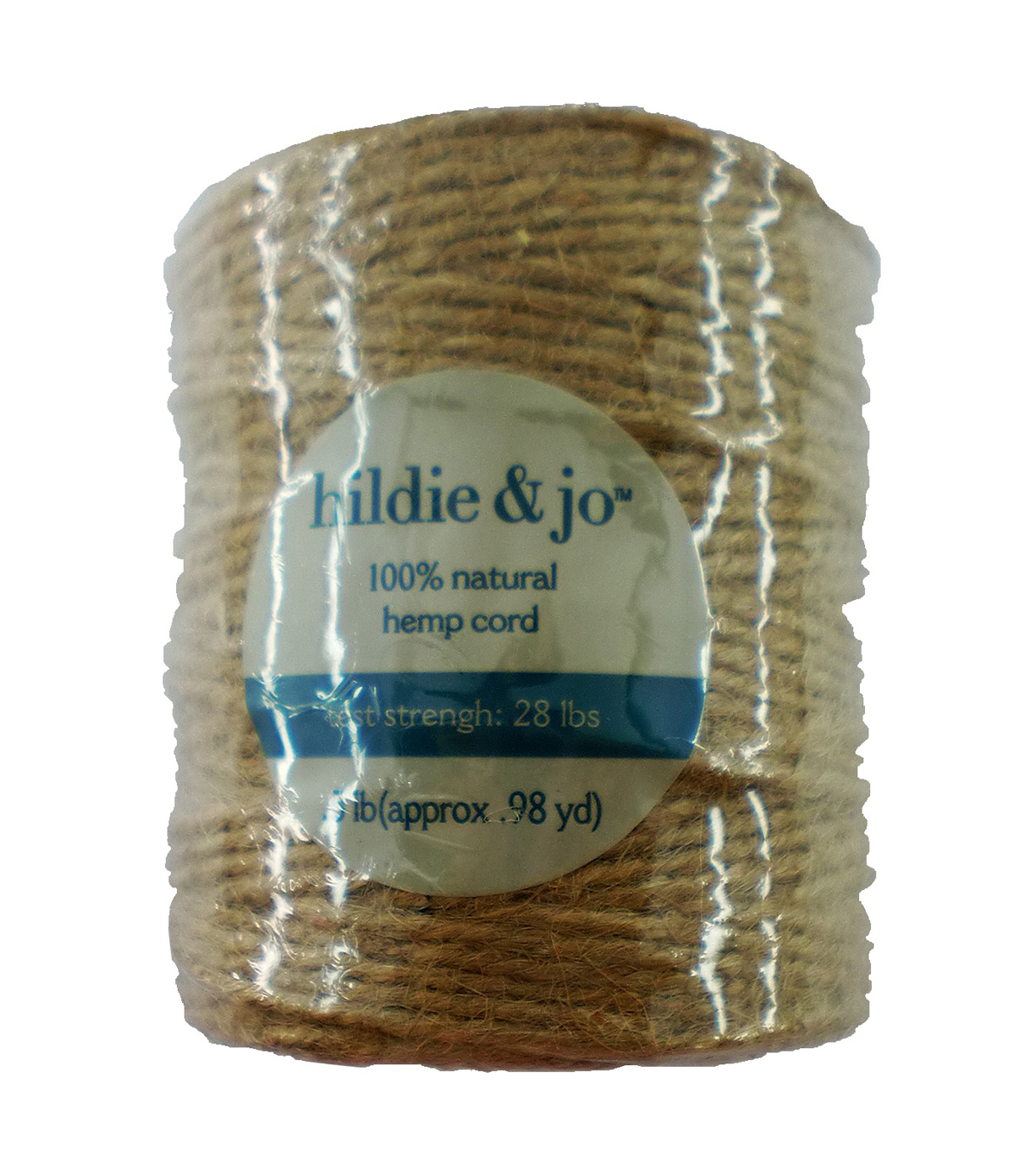 1/2 Lb. Natural Jute Cord, 3-Ply, 28lb. Strength