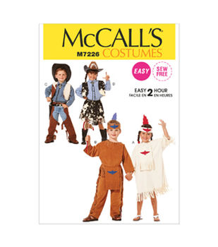 McCall\u0027s Pattern M7226 Childrens\u0027 Western & Native American Costumes