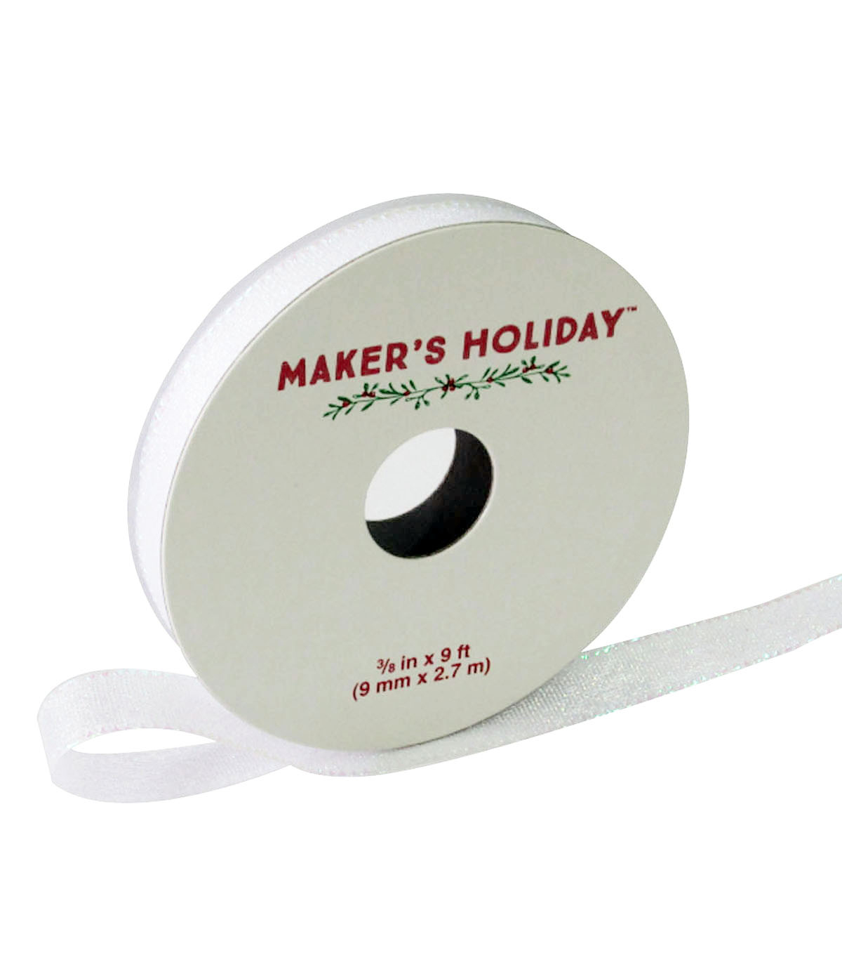 Maker\u0027s Holiday Iridescent Sparkle Ribbon 3/8\u0027\u0027x9\u0027