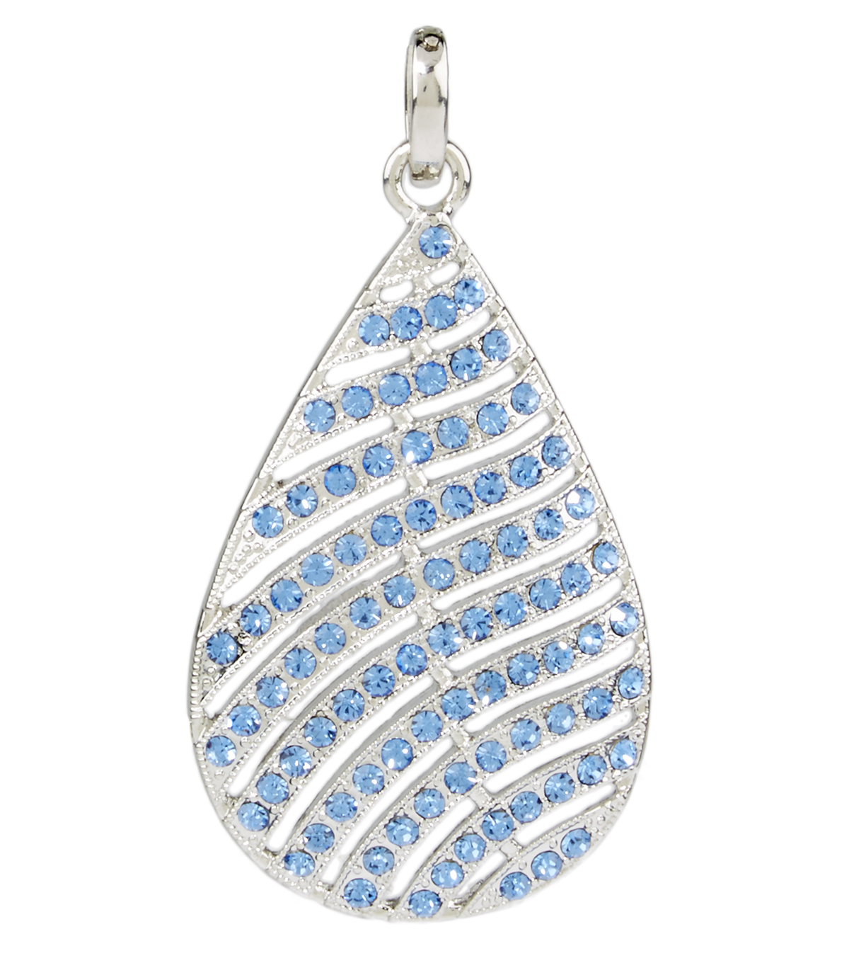 Feather Pendent Blue