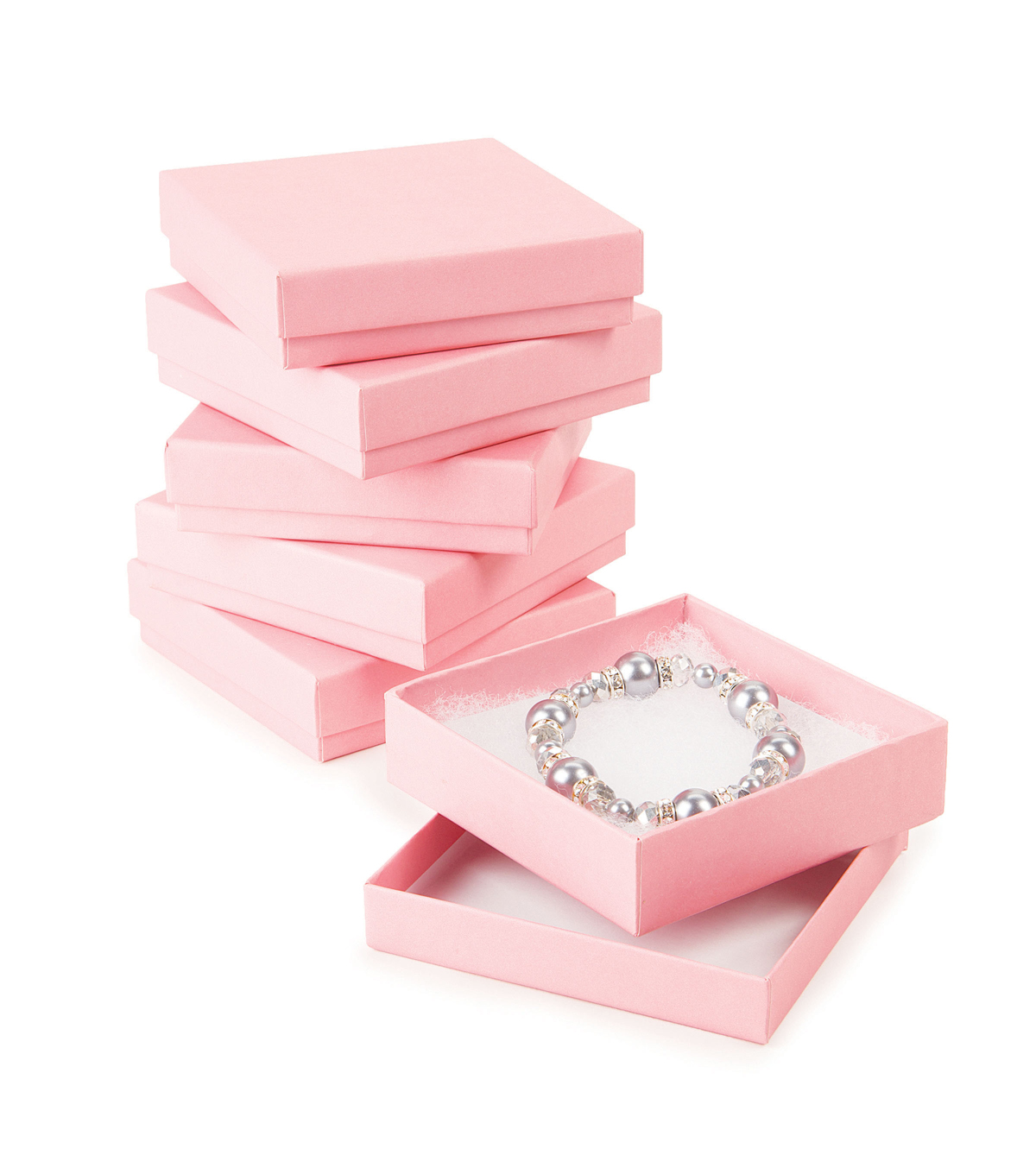 Jewelry Gift Boxes-Light Pink 6pk