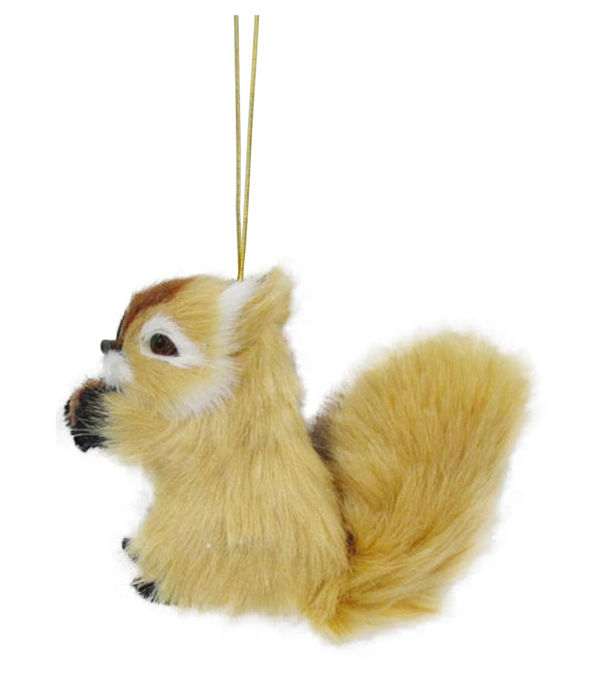Maker's Holiday Christmas Fur Squirrel Ornament