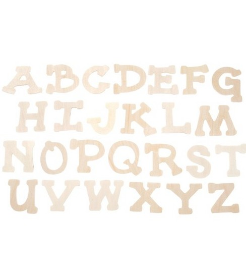 Darice® Wood Cutout Letters-Casual Day