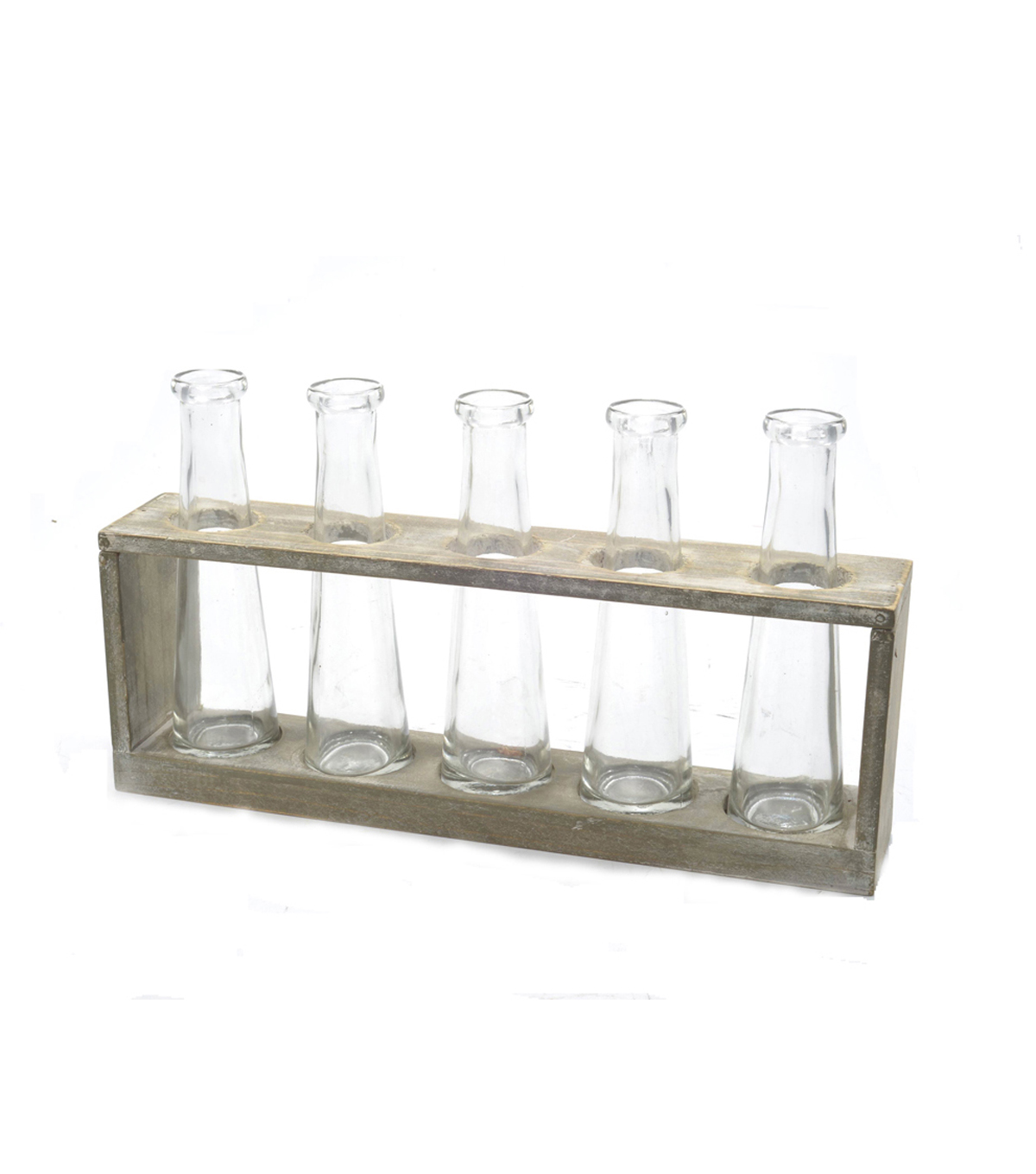 Bloom Room Wood Vase Holder With 5 Bottles