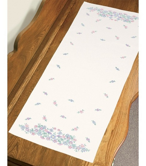 Dimensions Stamped Embroidery Kit Wildflowers Dresser Scarf