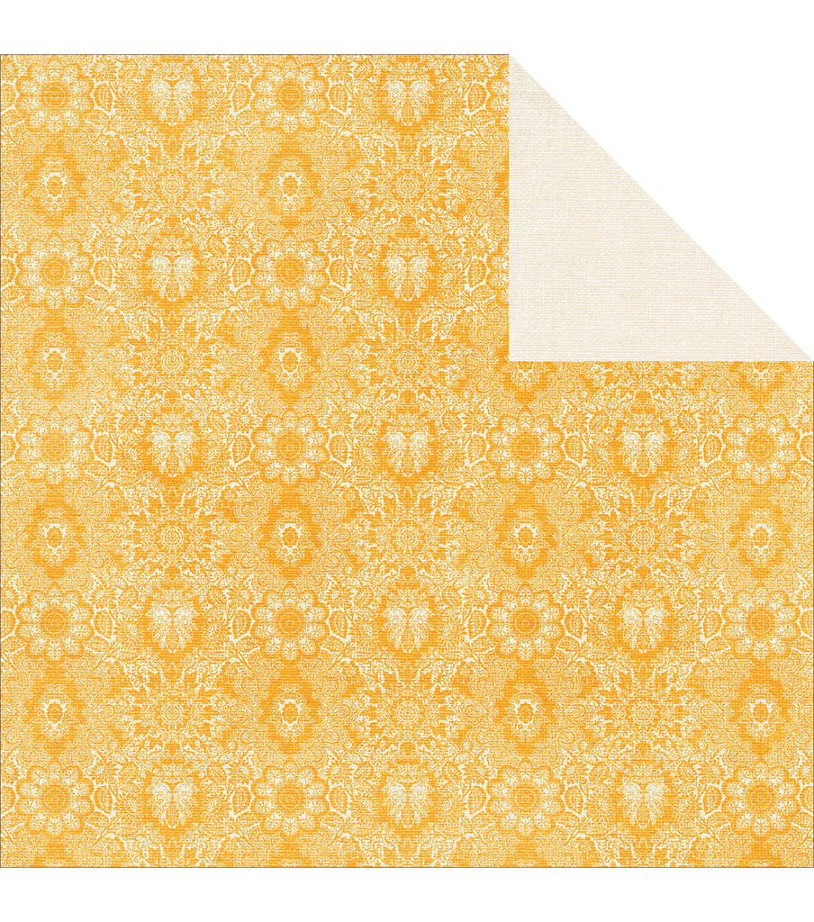 Tropical Punch Double-Sided Cardstock 12\u0022X12\u0022-Lemonade
