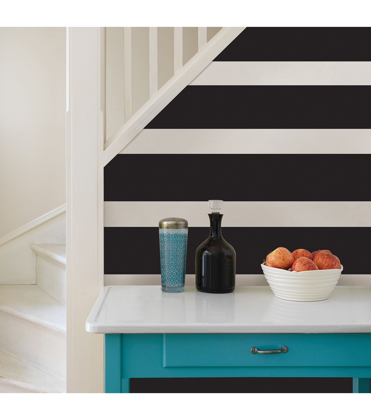 WallPops® Peel and Stick Stripe-Black Jack