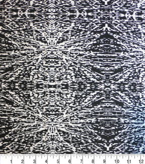 Nicole Miller Twill Fabric-Abstract Black/White