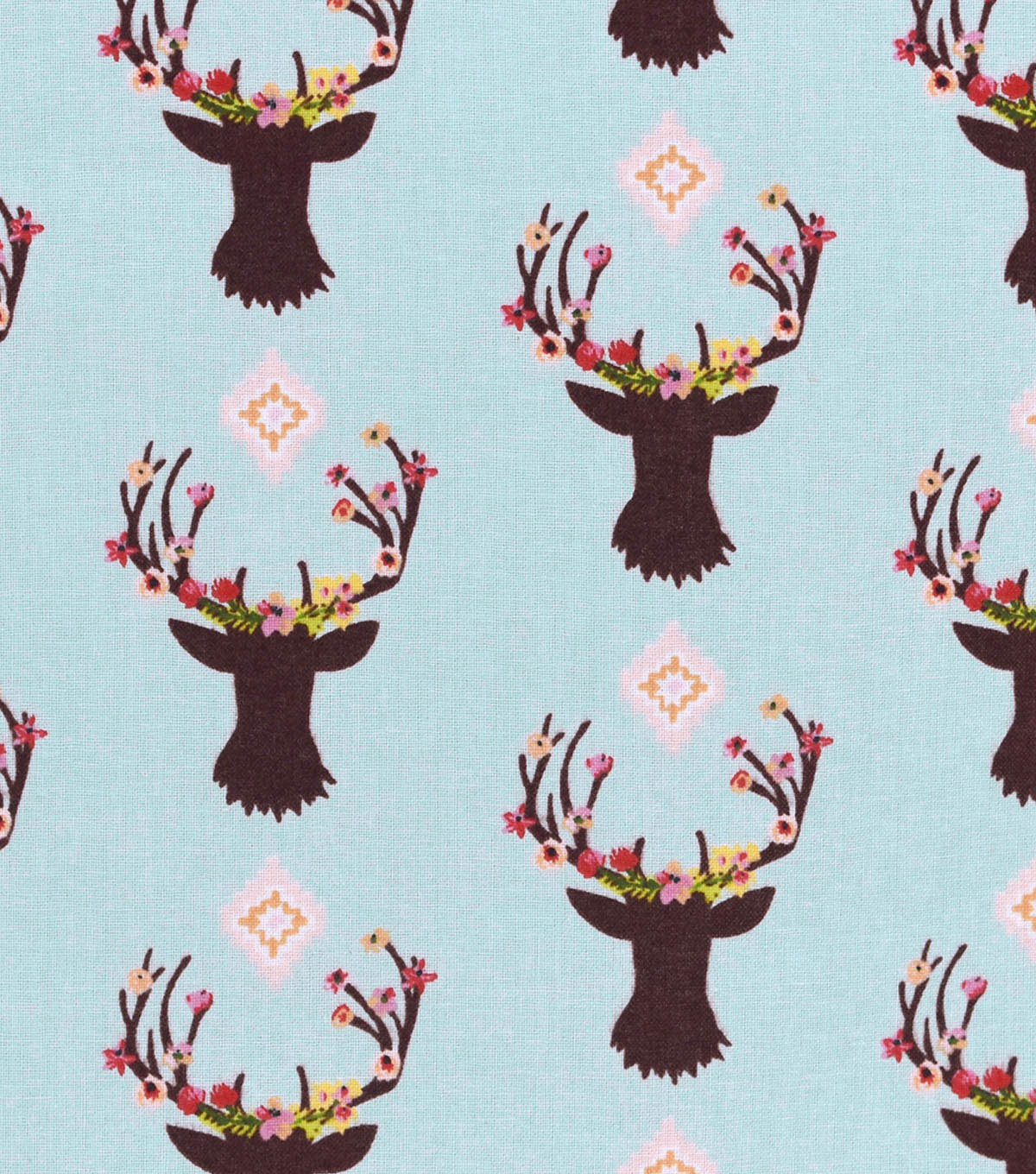 Nursery Cotton Fabric 43\u0022-Stag Head